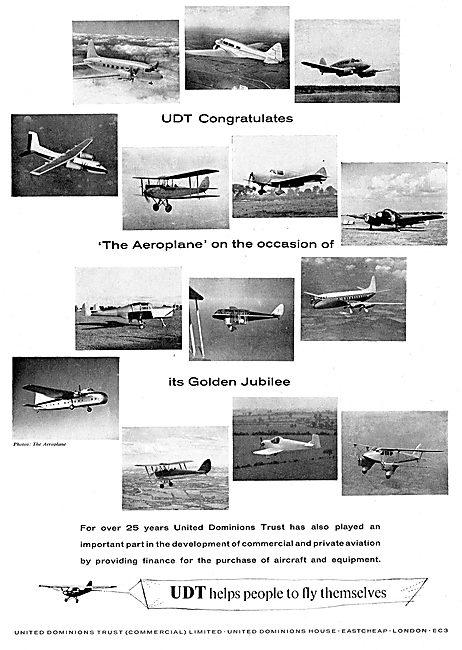 United Dominions Trust - UDT Congratulates Aeroplane