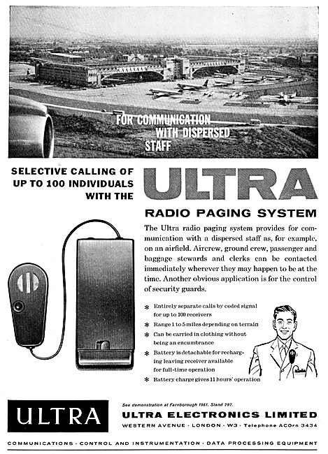 Ultra Electronics Airfield Radio Paging Systems