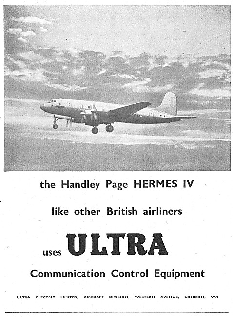 Ultra Electric Communication Control Equipment 1948