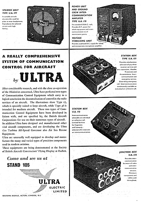Ultra Electric Aircraft Communications Equipment 1947