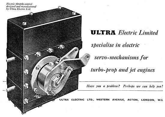 Ultra Electric Ltd : Electric Servo Mechanisms 1950