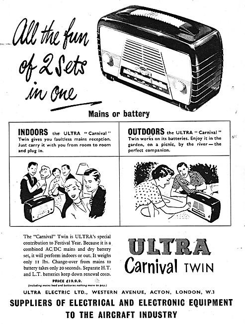 Ultra Carnival Twin Portable Radio 1951