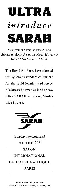 Ultra Electric Ltd : SARAH Search & Rescue Homing System