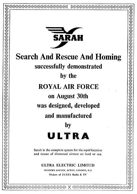 Ultra Electric Ltd : SARAH Search & Rescue Beacon