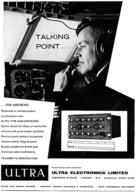Ultra Electronics Aircraft Intercomms
