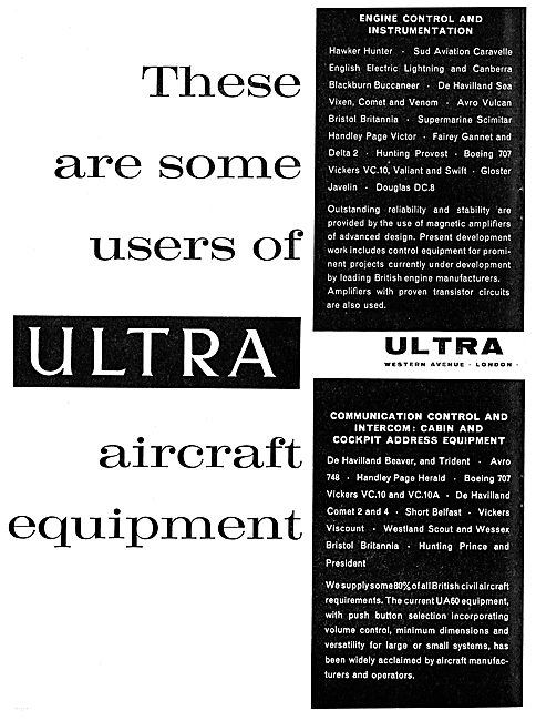 These Aircraft Manufacturers Use Ultra Electronics
