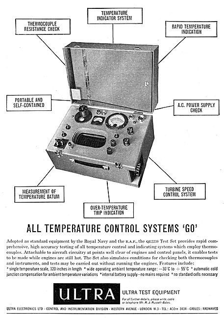 Ultra Electronics Avionics Test Equipment Sets