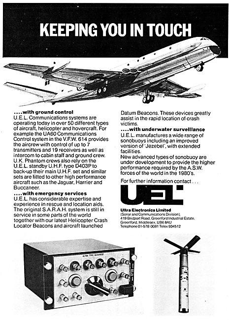 Ultra Electronics Ltd : S.A.R.A.H Emergency  Locator Beacon