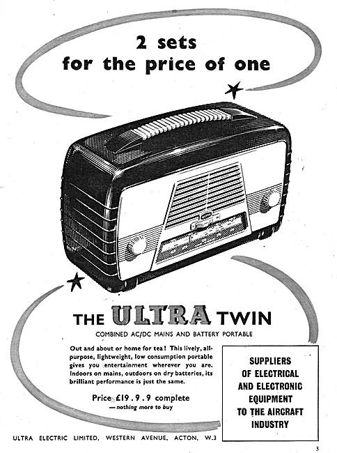 Ultra Twin Portable Domestic Radio
