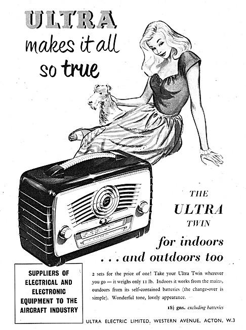 Ultra Twin Portable Domestic Radio 1952