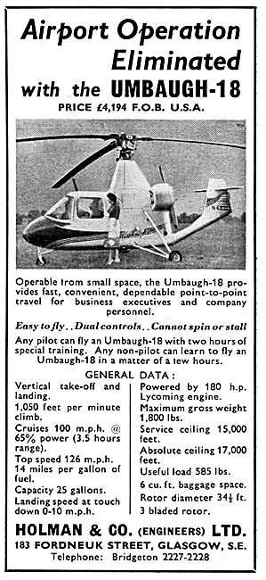 Umbaugh 18 Helicopter  - Holman & Co