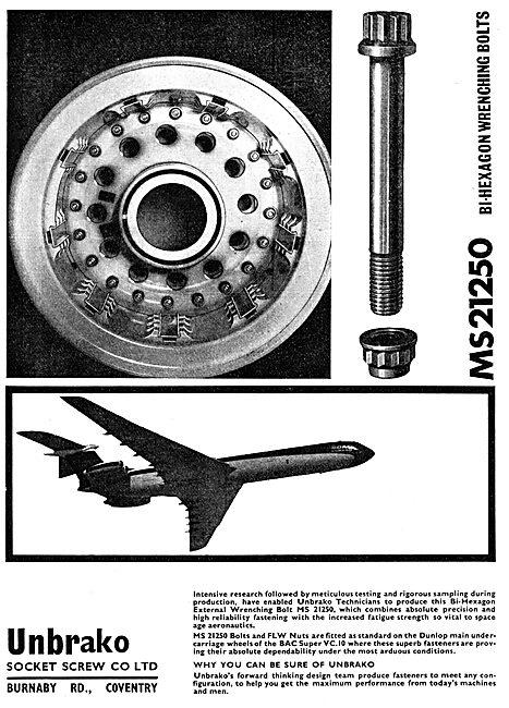 Unbrako MS21250 Bi-Hexagon Wrenching Bolts