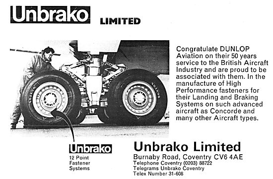 Unbrako Fasteners & Fastening Tools For Aircraft.