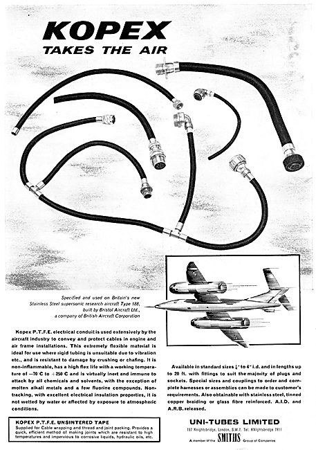 Uni-Tubes KOPEX PTFE Electrical Conduit