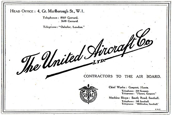 United Aircraft - Contractors To The Air Board