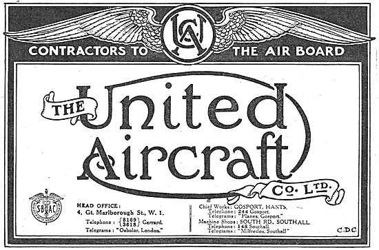 United Aircraft. Gosport - Aeronautical Engineers