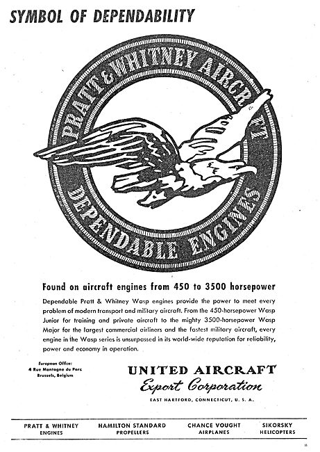 United Aircraft Export Corp - UAC - Pratt & Whitney Wasp