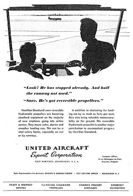 United Aircraft Export Corp - UAC - Hamilton Standard Propellers