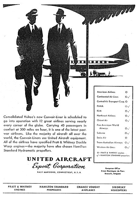 United Aircraft Export Corp - UAC - Vultee Convairliner
