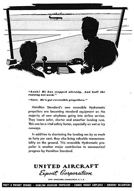 United Aircraft . UAC - Hamilton Standard Propellers