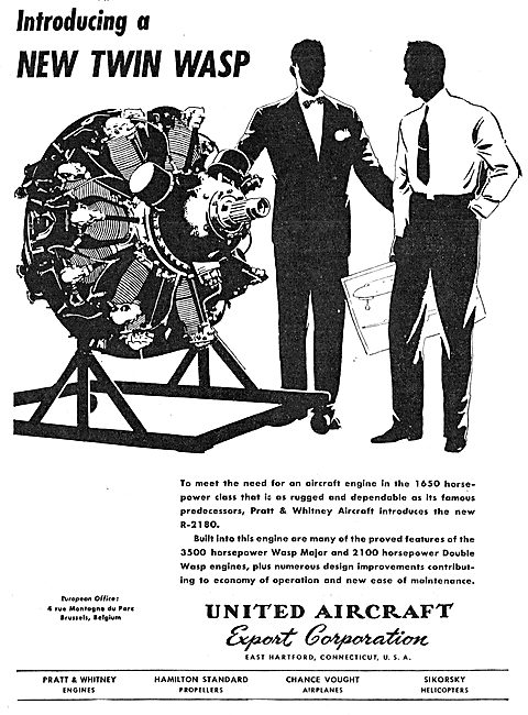 United Aircraft . UAC - Pratt & Whitney Twin Wasp