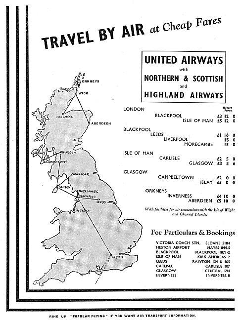 United Airways - Northern & Scottish & Highland Airways