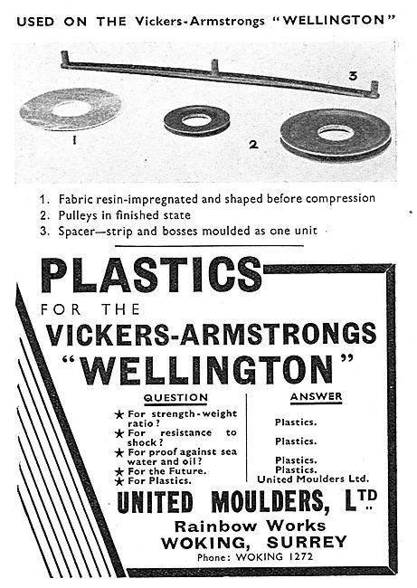 United Moulders. Plastics For The Aircraft Industry