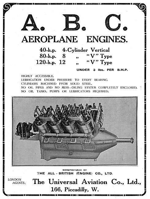 Universal Aviation Co. ABC Aeroplane Engines