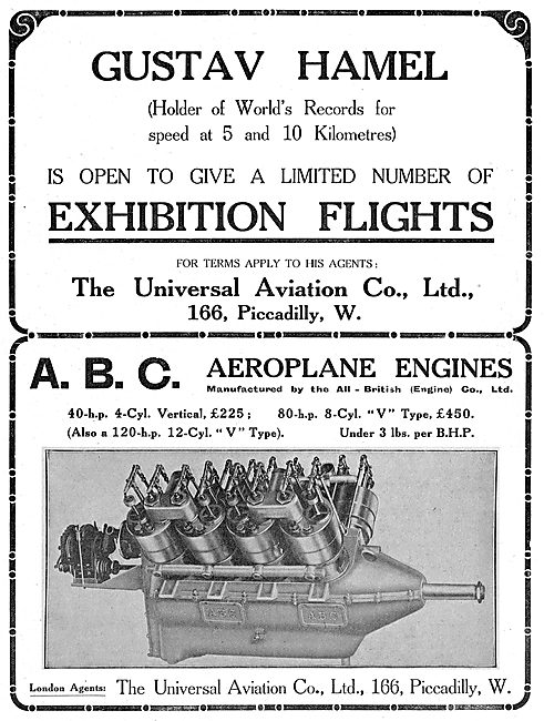 Universal Aviation Co. Exhibition Flights. Aviation Accessories