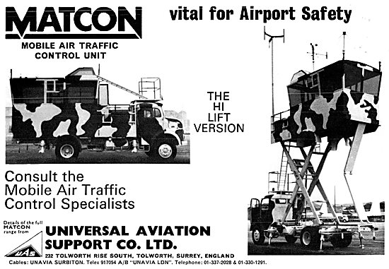 Universal Aviation Support MATCON Mobile Air Traffic Control Unit