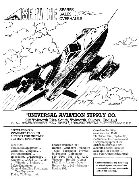 The Universal Aviation Supply Company - Spares Support Stockists