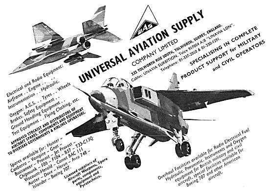 Universal Aviation Supply. Spares Stockists
