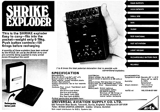 Universal Aviation Supply . Shrike Exploder