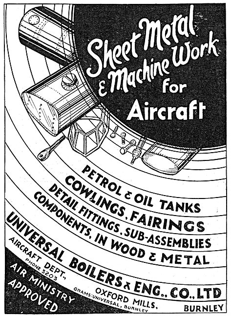 Universal Boilers & Eng Co Ltd. Burnley. Sheet Metal Work