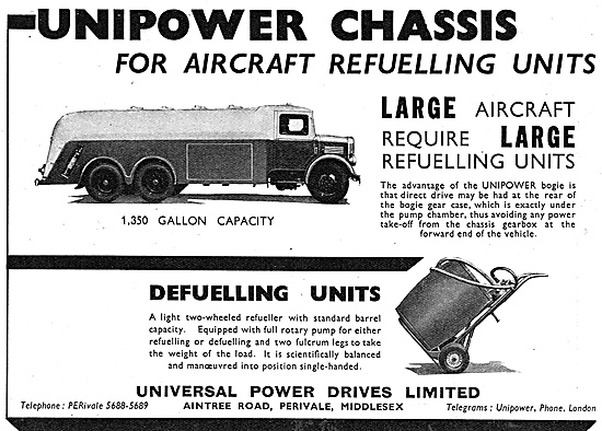 Universal Power Drives Large Refuelling Tender - Unipower Chassis
