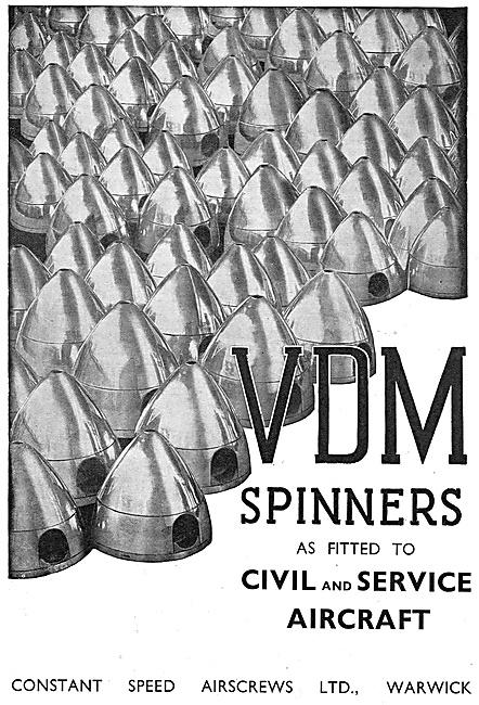 VDM Aircraft Propeller Spinners