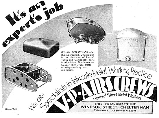 V.P. Airscrews - V.P. Sheet Metal Workers