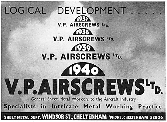V.P. Airscrews Aircraft Sheet Metalworkers
