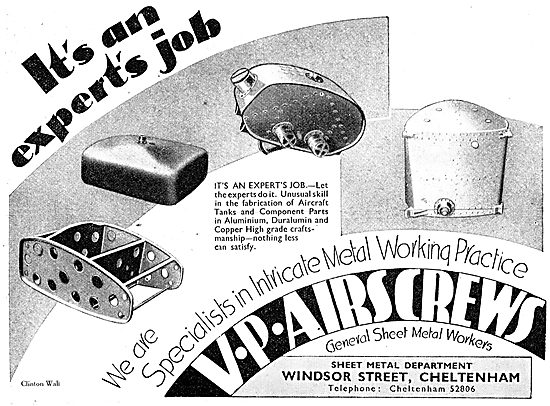 V.P.Sheet Metal 1942 - V.P.Airscrews