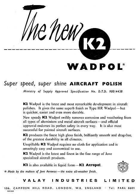 Valay Industries K2 Wadpol Aircraft Polish