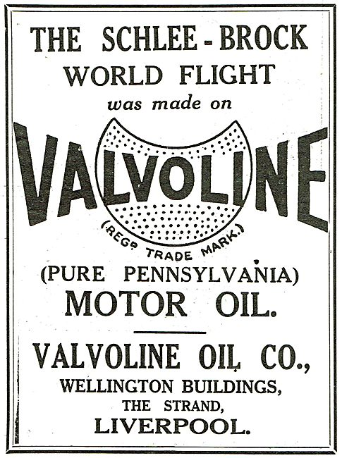 The Schlee-Brock World Flight Made On Valvoline Oil