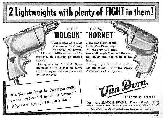 Van Dorn Portable Electric Tools - Holgun