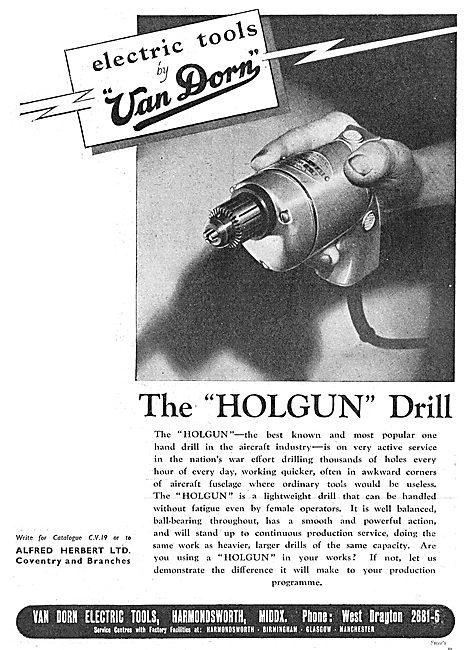 Van Dorn Portable Electric Tools - Holgun Drill