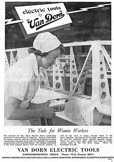 Van Dorn Portable Electric Tools For Women Workers