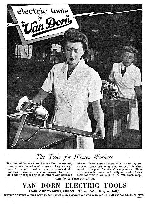 Van Dorn Electric Tools 1942 Advert