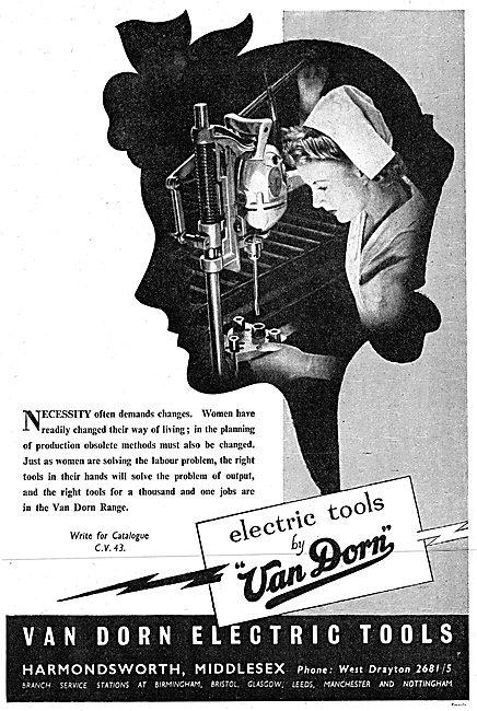 Van Dorn Portable Electric Tools 1943