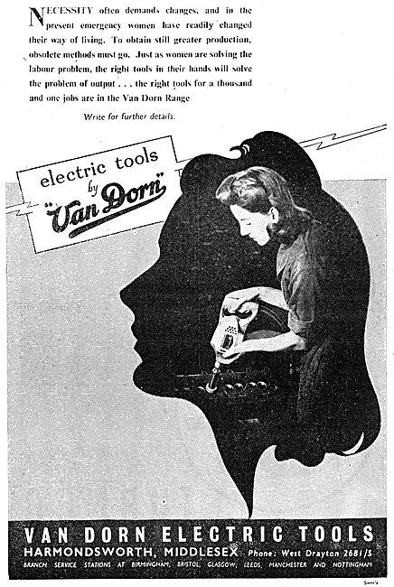 Van Dorn Electric Tools 1943 Advert
