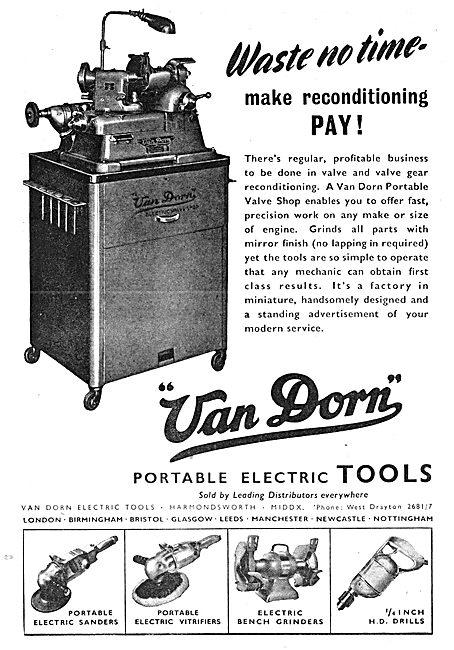 Van Dorn Portable Electric Tools - Portable Valve Shop