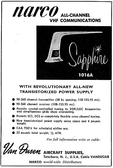 Van Dusen - Narco All Channel VHF Communications: Sapphire 1016a