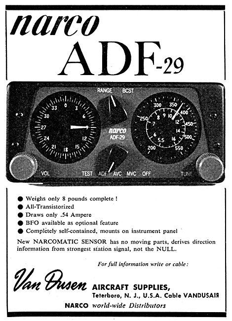 Van Dusen - Narco ADF-29 Receiver - NARCOMATIC Sensor